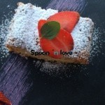 Ένα κέικ με φράουλες