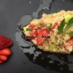 Σαλάτα με χόνδρο,φράουλες και αβοκάντο