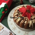 Kέικ με επικάλυψη λευκής σοκολάτας και αποξηραμένα κράνμπερις