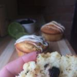 Mini κεκάκια με  lime και μύρτιλα