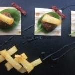 Kεφτεδάκια φούρνου πάνω σε τσιπς αραβικής