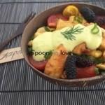 Πράσινη σαλάτα με κοτόπουλο